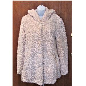 Warm lite beige  faux fur jacket
